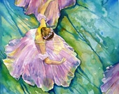 Ballet watercolor Print by Maure Bausch