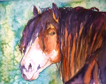 Windfire 2 Watercolor Art print by Maure Bausch