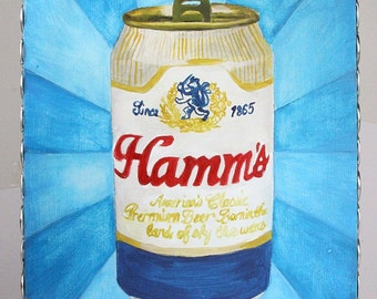 Hamms Beer Painting