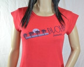 1980's Red Aloha HAWAII T SHIRT Top size medium / large
