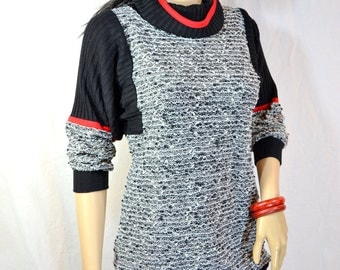 80's SLOUCH SWEATER DRESS S M