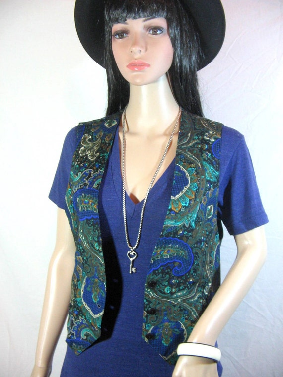 1980's VEST by GARLAND size small made in theUSA