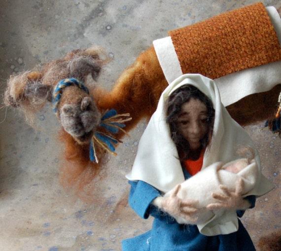 SALE: Nativity Camel Brown