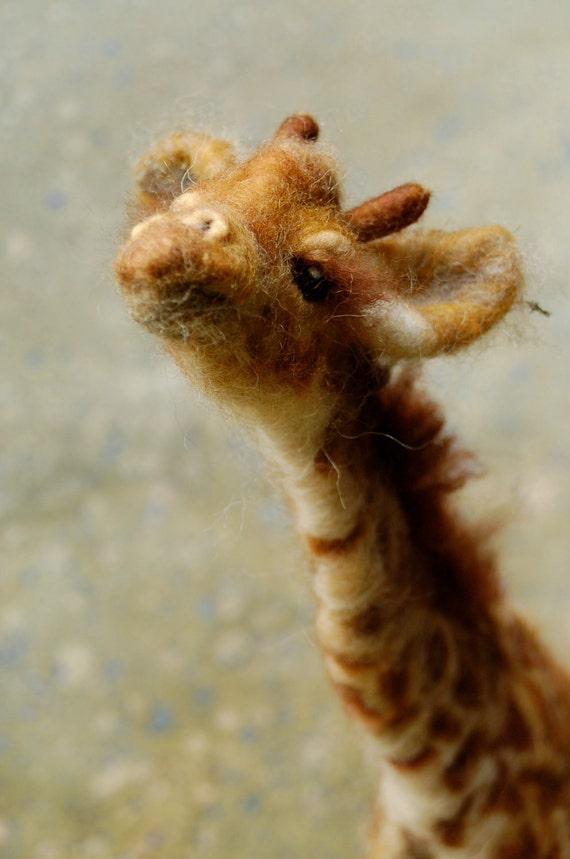 Zuri: Day 17 Needle Felted Giraffe
