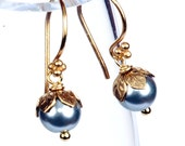 Silver and Gold Elegant Pearl Earring