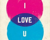 CMYK Love Giclee Print 8x10 (on sale)