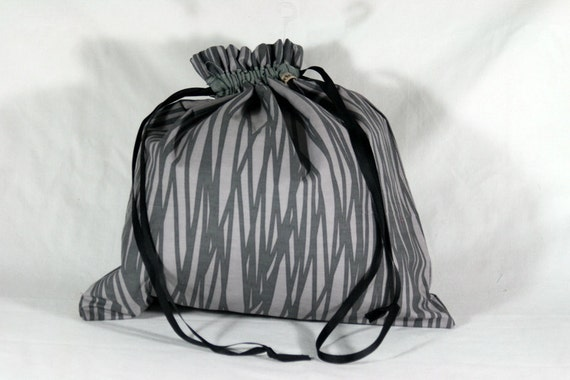 Small Drawstring Project Bag for Knitting or Crochet