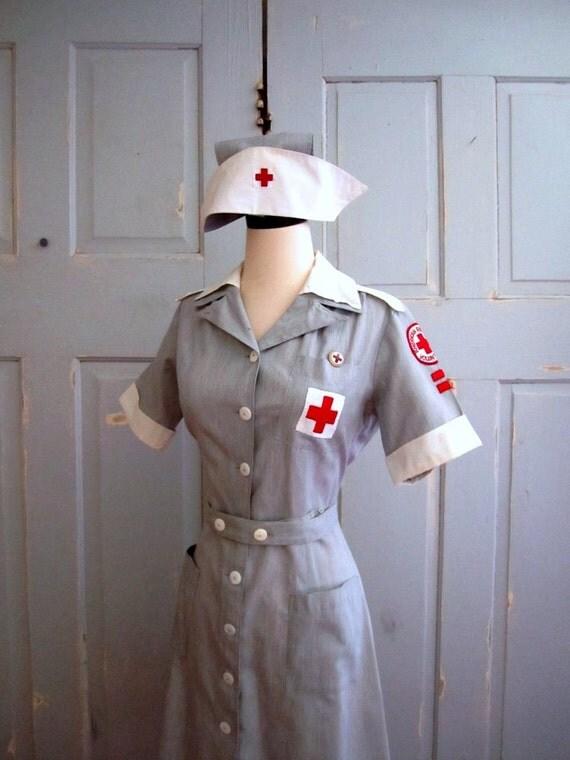 Vintage 1940s Dress Uniform American Red Cross Volunteer