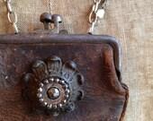 Amelia's Keepsake - Repurposed Assembled Artistic Necklace