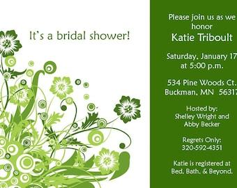 "Bridal Shower Invitation ""Shiny and New"""