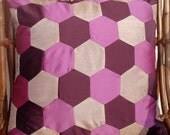 """purple couch pillow cover in size 16""""x16"""""""