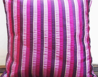 purple pink lilac silver striped cushion in size 40cmx40cm home decor pillow decorative pillow accent pillow designer pillow bed pillow