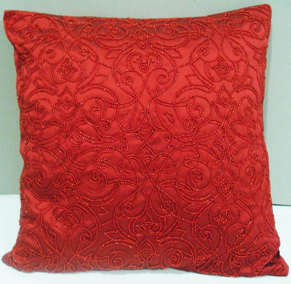 kilim pillow;  decorative pillow ; red pillow ; christmas cushion; wedding decor;handmade ; summer pillow in size 16x16inches