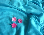 SALE SALE SALE - Felt Pink Blossom Bobby Pins (3 in a set)