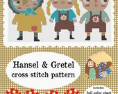 Hansel and Gretel cross stitch pattern PDF