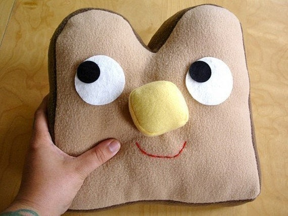 Butter Nosed Toast Pillow Plush