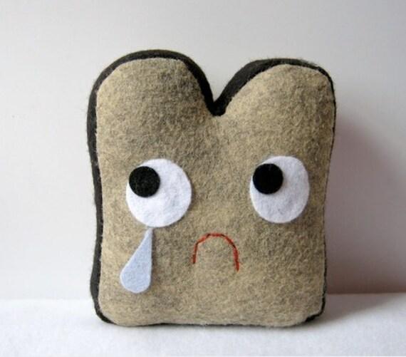 Sad Burnt Toast Plush