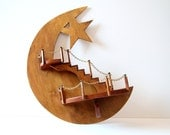 Wooden Moon Shelf