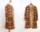 Embroidered Suede Coat - Fur Trimmed