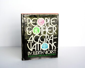 Vintage Book People & Other Aggravations by Judith Viorst designed by Herb Lubalin