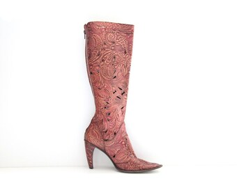 Hand Tooled Leather Boots - Gianni Barbato