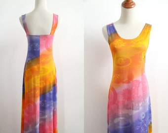 90s New Age Maxi Dress - Sherbert Stripe