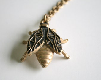 Vintage Insect Pendant  - modernist jewelry