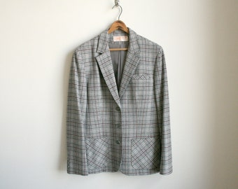 CLEARANCE Pendleton Wool Jacket - Grey Sky Plaid Wool