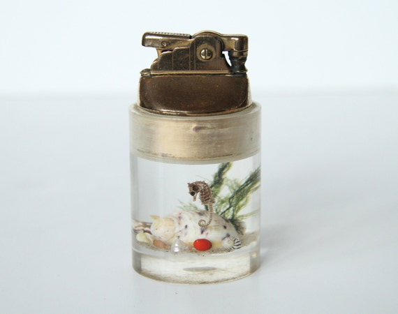 Lucite Antique Lighter - Seashells