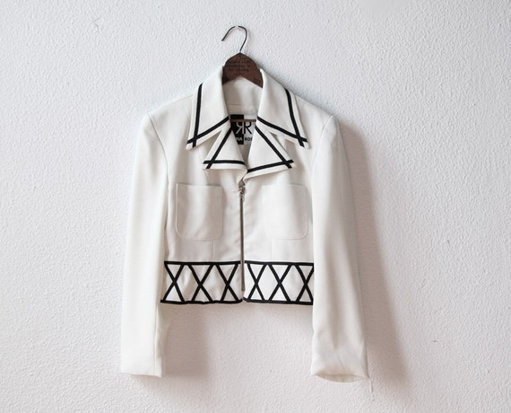 Avant Garde Jacket - Geometric Pattern in Black & White