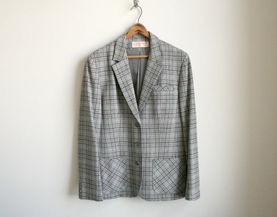 CLEARANCE Pendleton Wool Jacket - Grey Sky Plaid Wool