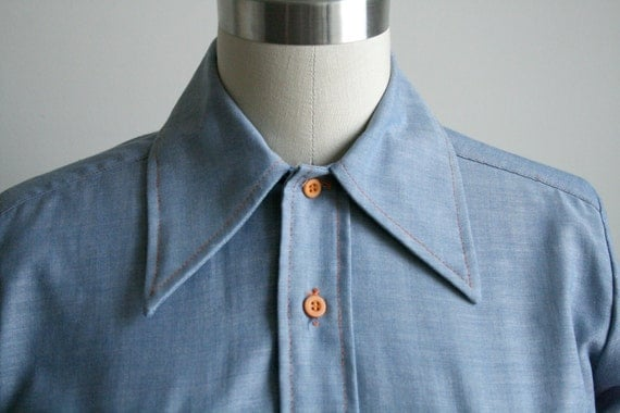 Chambray Shirt with Folk Embroidery