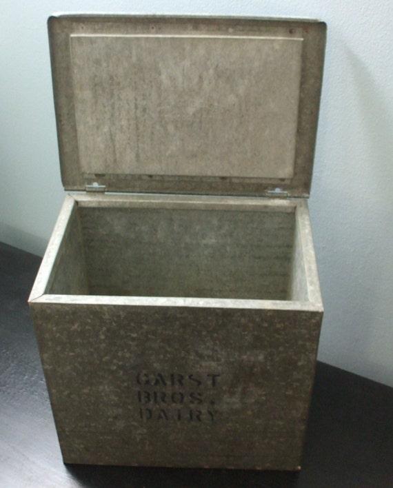 vintage milk box. Black Bedroom Furniture Sets. Home Design Ideas