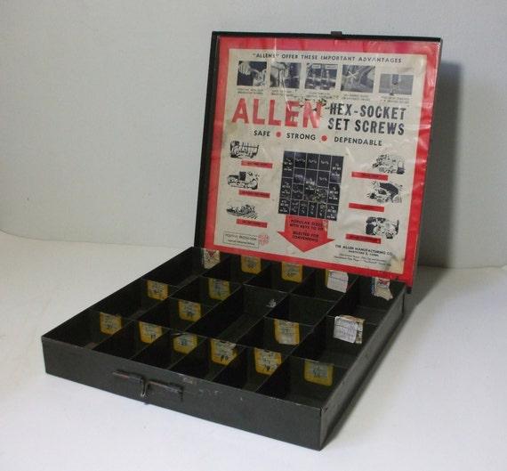 vintage industrial display box storage/organizer