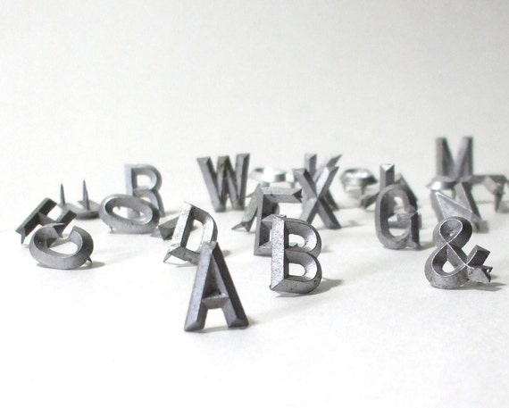 vintage metal letters your choice of 5,more available