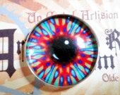 Kaleidoscope Glass Eyes Taxidermy Fantasy Eyes eye set of 2, 25mm Steampunk Jewelry and Pendant Making