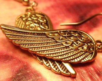 GOLDEN ANGEL Wings Fantasy drop Earrings S