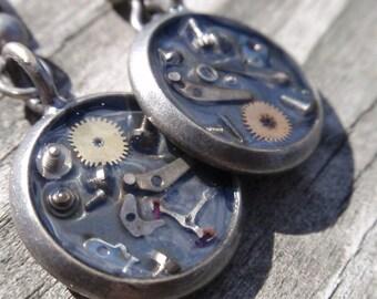 Steampunk Junk Earrings Neo Victorian