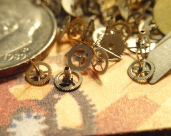 Vintage Steampunk Gears Steam Punk  NOS Little tiny watch gears lot of over 200 steampunk  clockwork  TG1