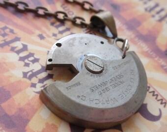 Swivel Steampunk  Necklace Brass, Steel