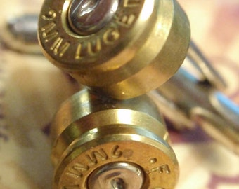 9mm.. FC Bullet Shell Cufflinks  Two Tone Gold and Silver