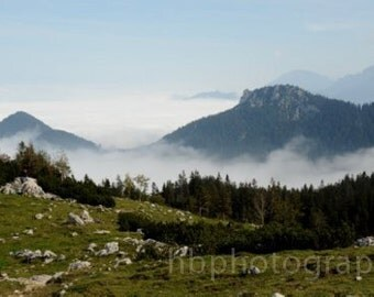 Photo Print of the Alps in Germany - Kampenwand