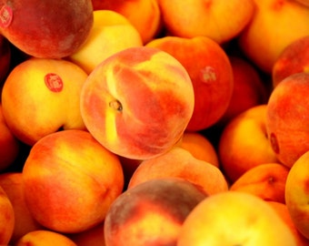 Photo Print of a bunch of summer fruit - Peaches