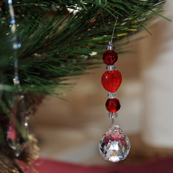 Crystal Ornament on Beaded Wire