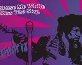 Jimi Hendrix Purple Haze Colorway Print 11x17 - Famous Seniors
