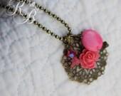 P I N K A L I C I O U S Filigree Charm Necklace