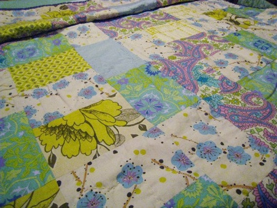 RESERVED-Pastel Vintage& New Quilt