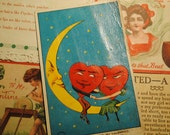 six paper ephemera POSTCARDS  1910 Reserved for the lovely Miss Kitty