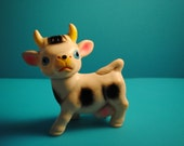 antique SOFT RUBBER COW TOY-  TOY BATH TOY MADE IN JAPAN SOFT RUBBER
