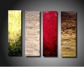 For Josh Huge JMJARTSTUDIO Original 4  Piece Painting 24 Inches X 32 Inches HIGHLY Textured-----Standing up------